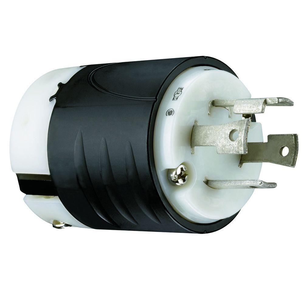Legrand Pass Seymour Turnlok 30 Amp 125 250 Volt Nema L14 30p Locking Plug L1430pccv3 The Home Depot Plugs Hurricane Preparedness 30a