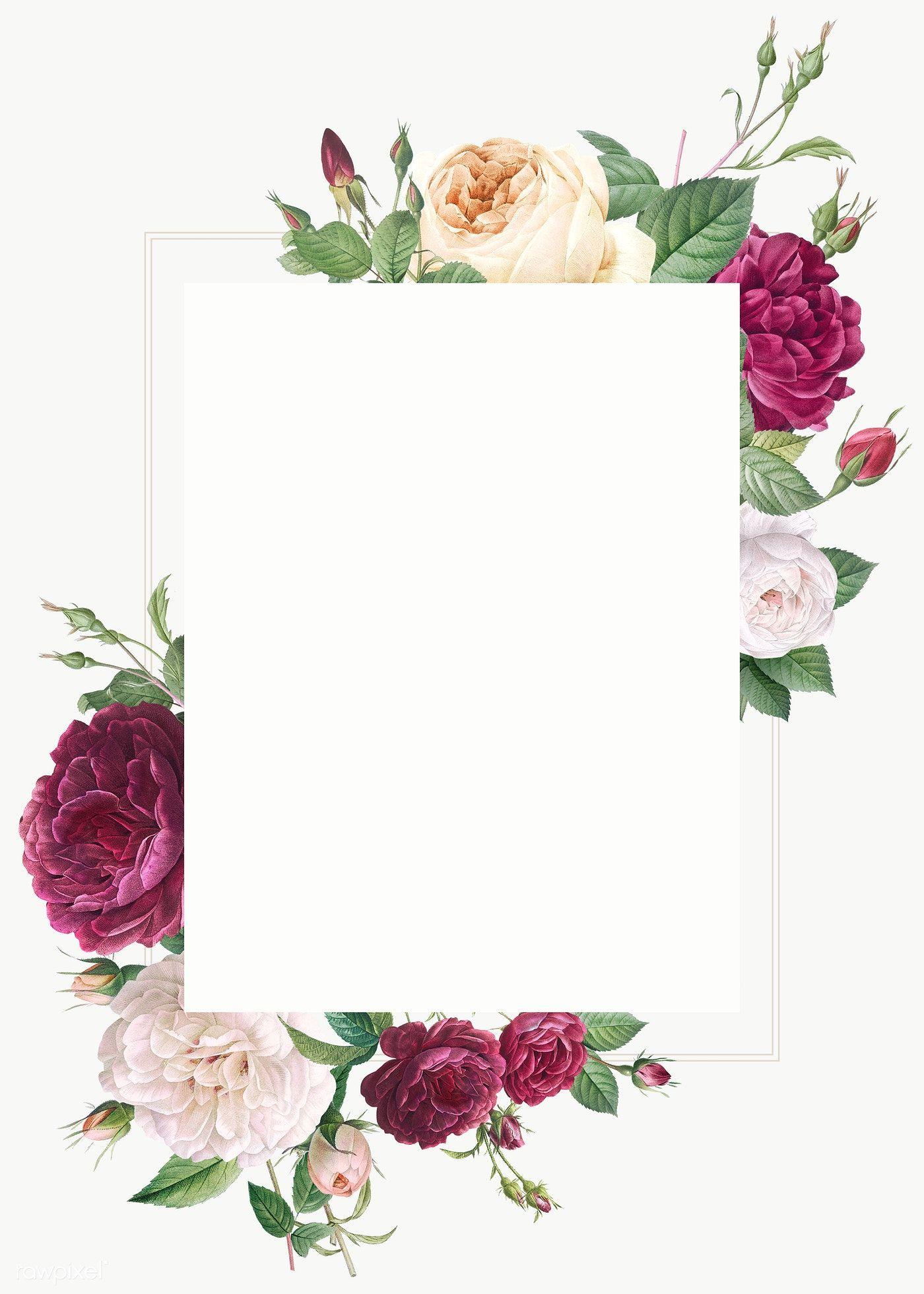 Download Premium Vector Of Floral Wedding Invitation Mockup Vector 581072 Floral Wedding Invitations Flower Wedding Invitation Floral Wedding
