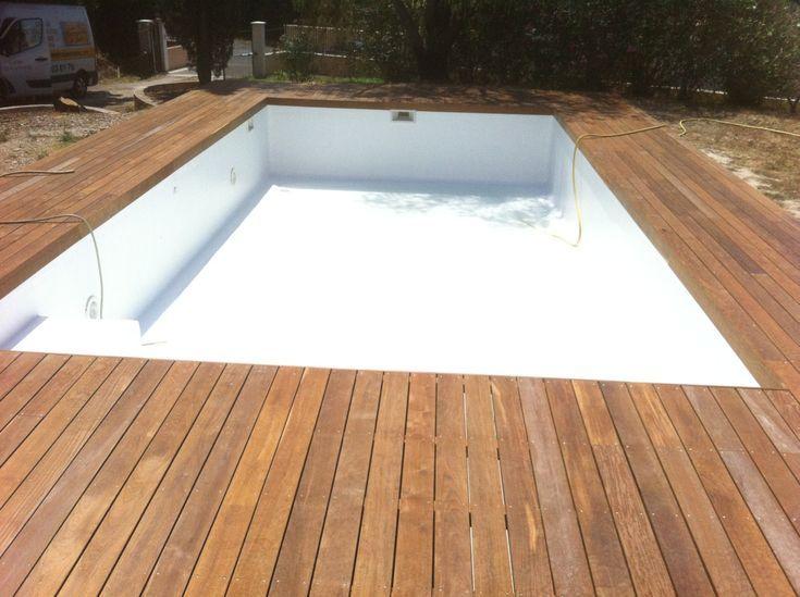 Réalisation pourtour de piscine en bois exotique ipe à la fare les oliviers Pa…