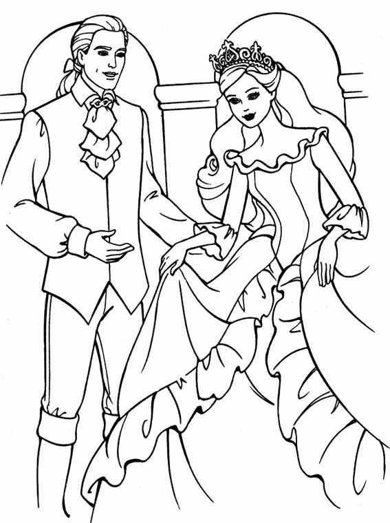 Barbie coloring pages wedding printable