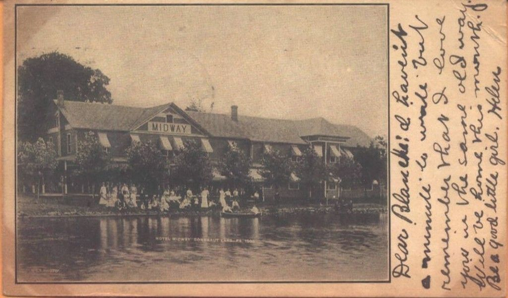 1906 hotel midway conneaut lake pennsylvania pa postcard view conneaut lake conneaut lake park conneaut 1906 hotel midway conneaut lake