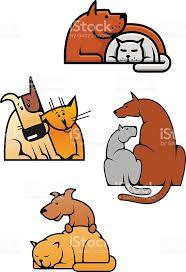 Картинки по запросу кошка и собака мультяшные | Собаки ...