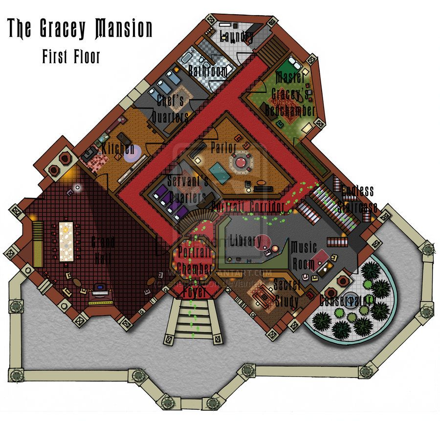 Haunted Mansion First Floor Plan By Shadowdion Attic Flooring Attic House Attic Remodel