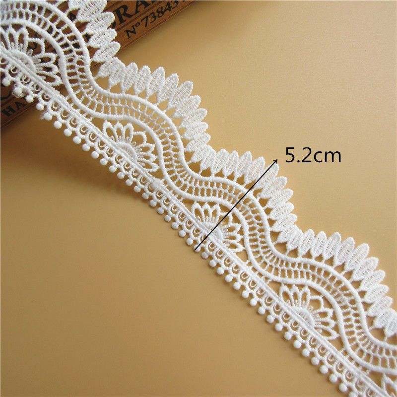 1-10 Meters Embroidered Lace Edge Trim Ribbon Wedding Applique DIY Sewing Craft