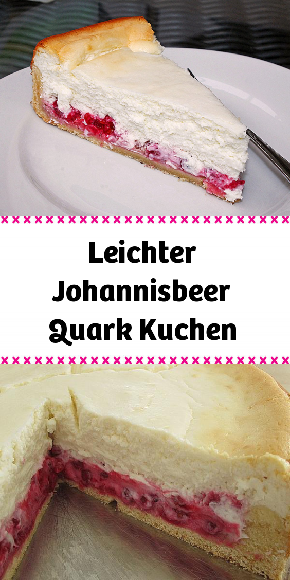 Leichter Johannisbeer Quark Kuchen In 2020 Teig Zubereitung Quark