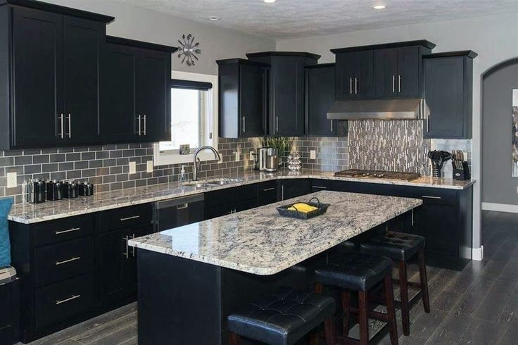 35 luxury kitchen remodel dark cabinets granite at a glance 34 #darkkitchencabinets