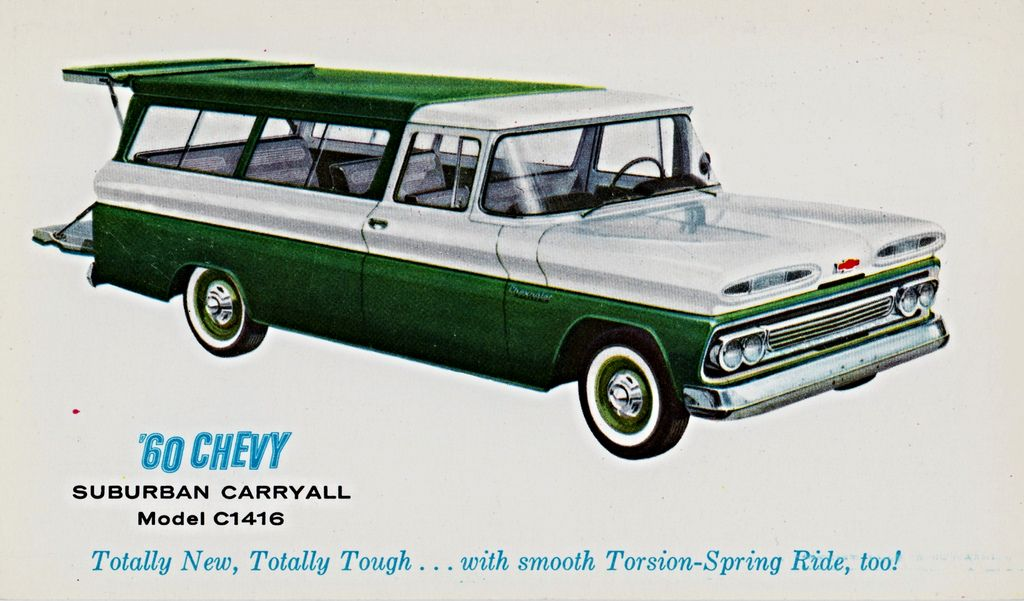 1960 Chevrolet Suburban Caryall Chevrolet Suburban Chevrolet