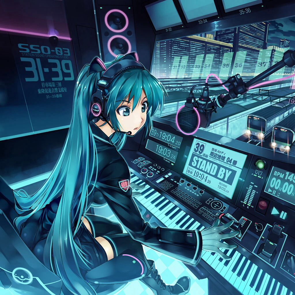 Wwoooooooooow Anime music, Hd anime wallpapers, Hatsune miku