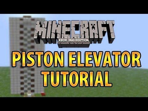 MINECRAFT XBOX 360: PISTON ELEVATOR TUTORIAL (ZIPPER