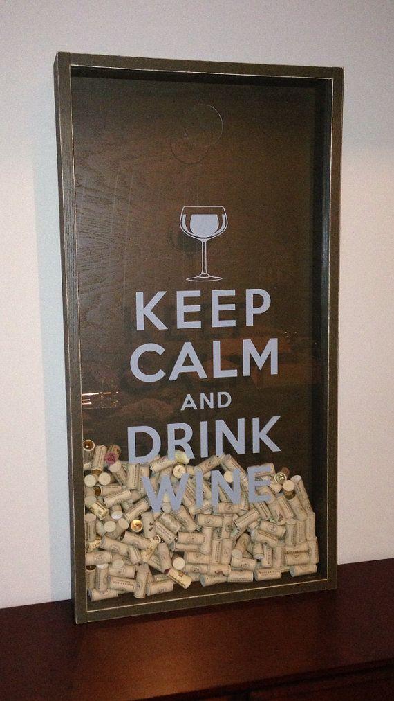 Keep Calm And Drink Wine Shadow Box Diy