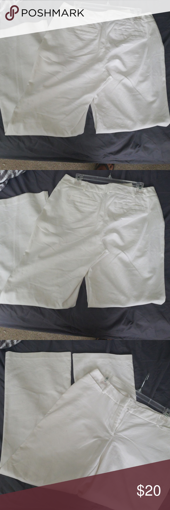 White slacks White slacks in good condition Worthington Pants Boot Cut & Flare #whiteslacks