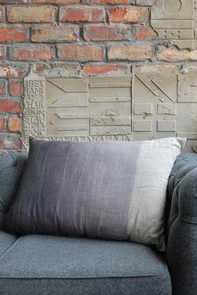 Grey ombré cushion SALE