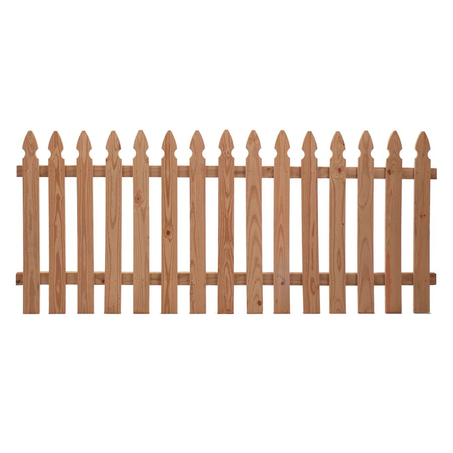 $40.03 per panel - Shop Western Red Cedar Gothic Wood Fence Panel ...