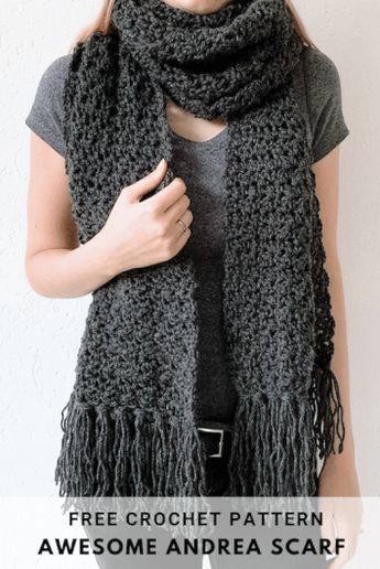 Fast crochet scarf: Awesome Andrea - free crochet pattern by Wilmade #crochetscarves
