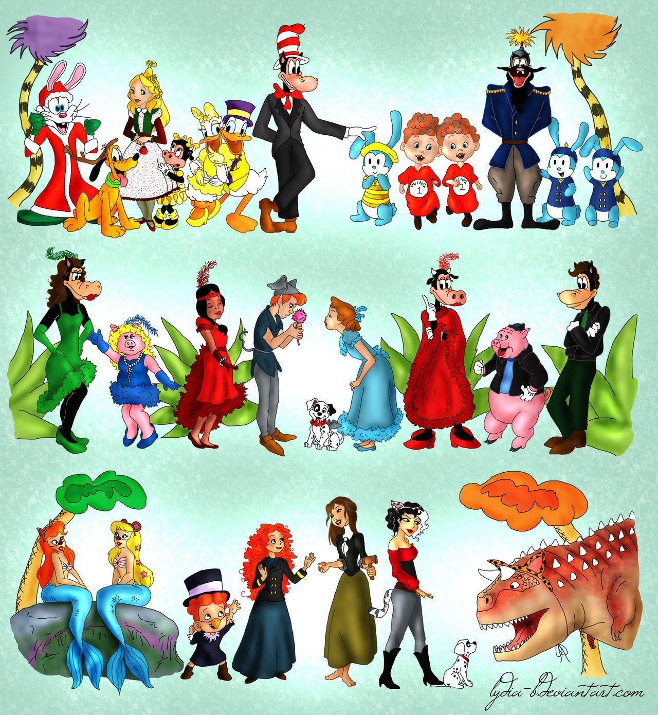 Disney characters as SEUSSICAL CHARACTERS!!! Cat in the