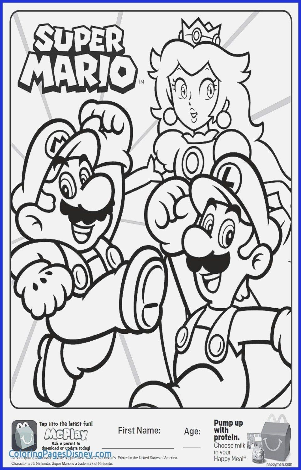 Mario Coloring Pages Super Mario