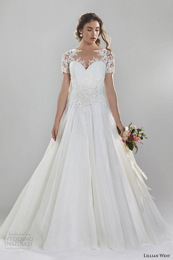 Short Sweetheart Lace Wedding Dress