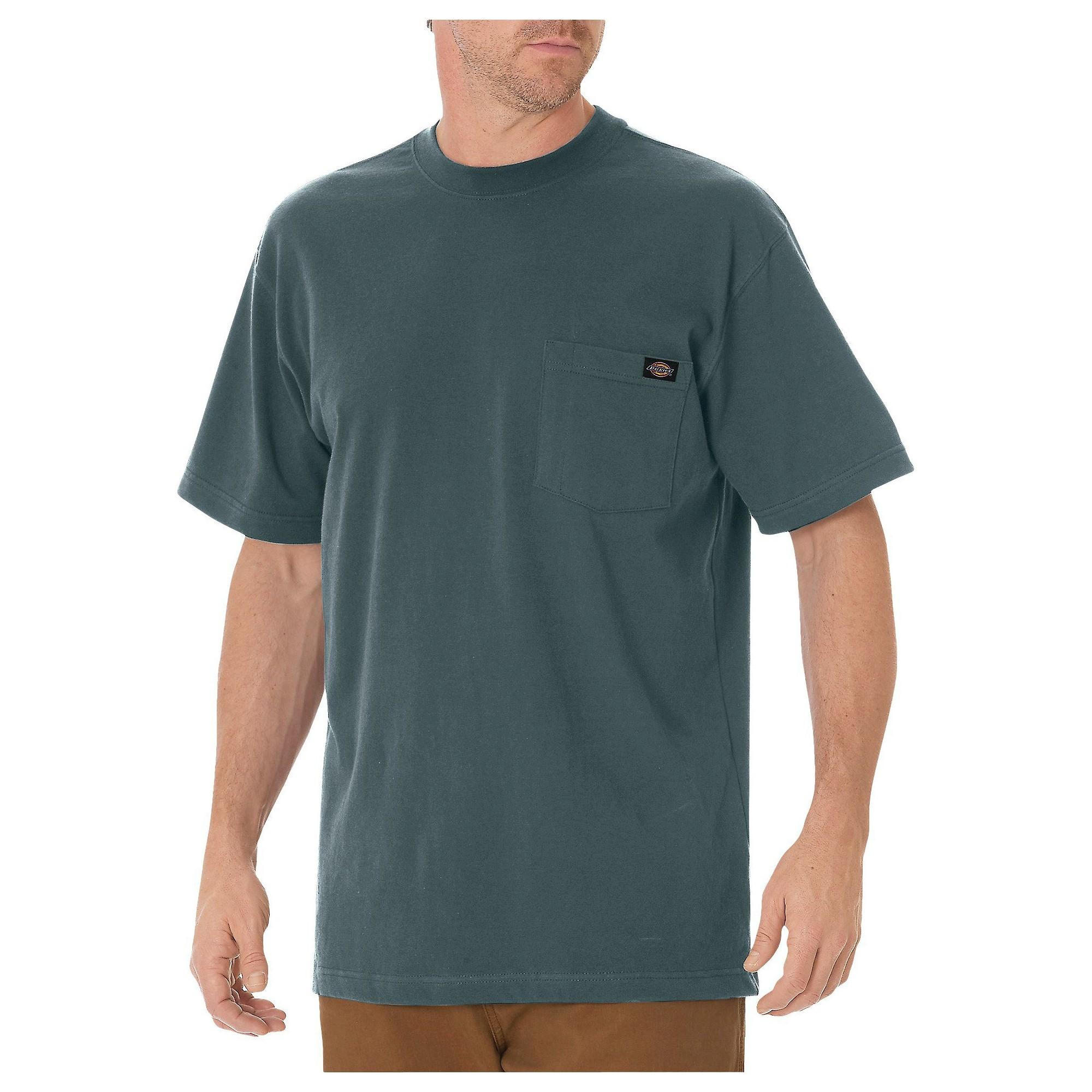a1e36c276d Dickies Men s Big   Tall Cotton Heavyweight Short Sleeve Pocket T-Shirt-  Lincoln Green L Tall