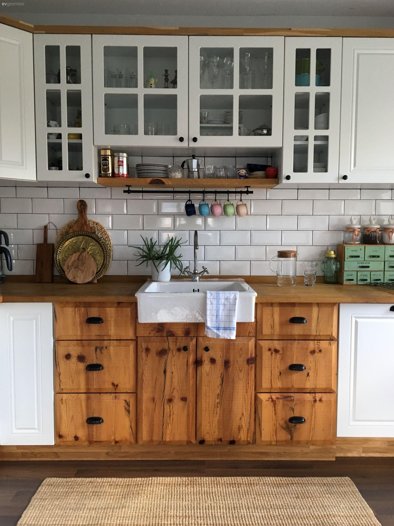 Bu Fotojenik Mutfak Rustik Stili Bir Apartman Dairesine Taşıyor #rustickitchens