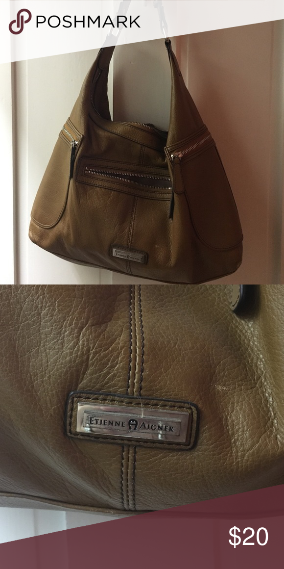 5725d8474f2 Etienne Aigner brown leather bag Soft leather brown shoulder bag. Tiny  scratch noted on second picture. Etienne Aigner Bags Shoulder Bags