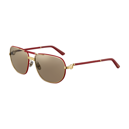 1ad38737aa MUST DE CARTIER SUNGLASSES Limited edition. Red leather