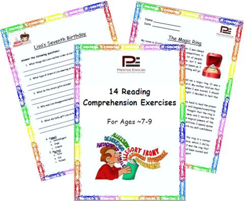 14 Reading Comprehension Exercises for Ages 7-9 (Grade 3
