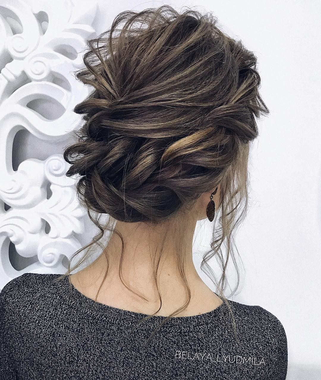 35 gorgeous updo wedding hairstyle inspiration , braids ,braided updo hairstyles ,braided ponytails ,wedding updo, textured braids #hairstyle #hair #braids #updo