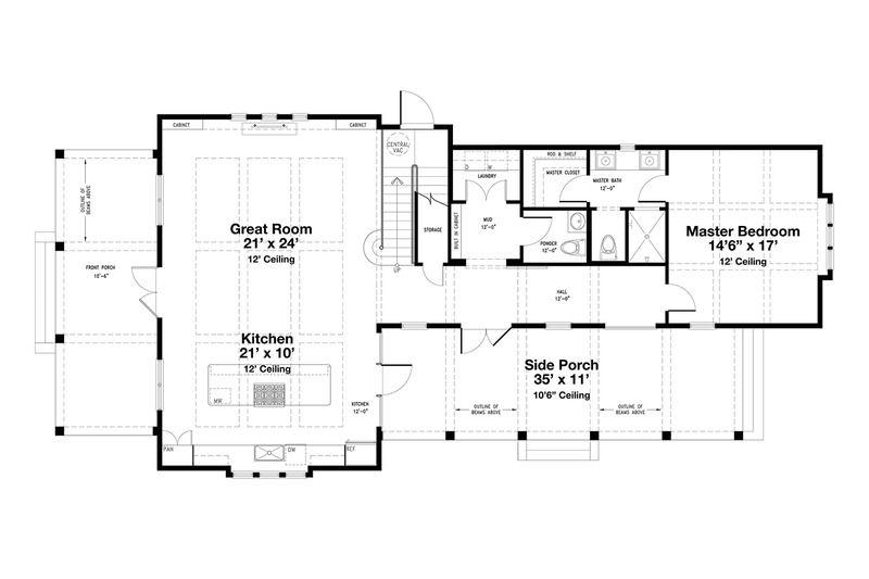 Beach Style House Plan 4 Beds 4 5 Baths 2799 Sq Ft Plan 443 14 Beach Style House Plans Beach House Plans House Plans