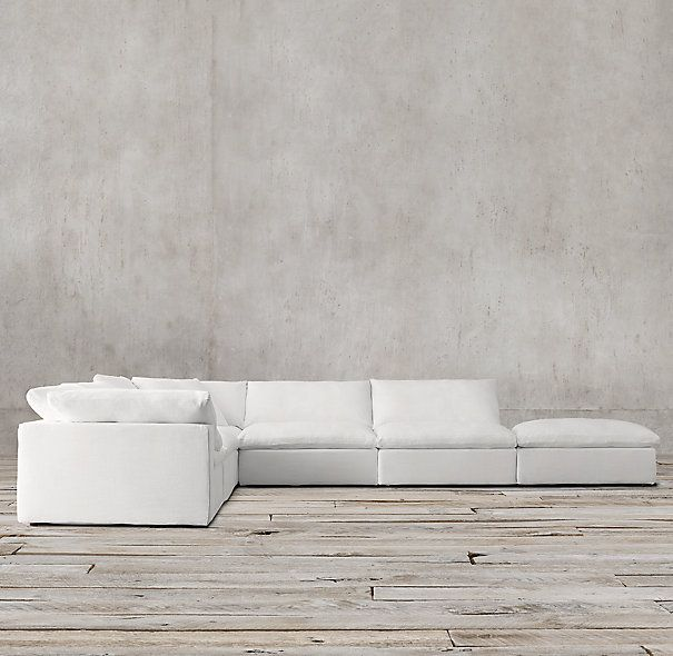 Cloud cube modular customizable sectional hands down the for Most comfortable sectional sofa ever
