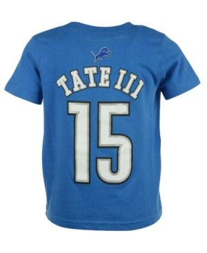 Outerstuff Golden Tate Detroit Lions Mainliner Player T-Shirt, Toddler Boys' (2T-4T) - Blue 3T