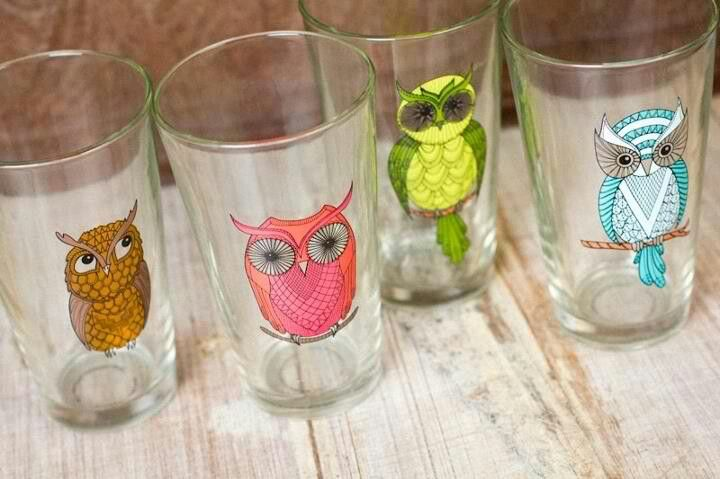 Earthbound Trading Company...love these owl glasses