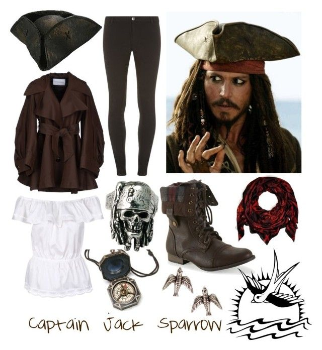 """I'm Captain Jack Sparrow, Savy?"" by cristianoronaldostar ❤ liked on Polyvore featuring Lola, Dorothy Perkins, Viktor & Rolf, Aéropostale and Balmain"