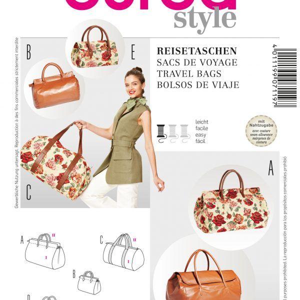 Schnittmuster Taschen | 3 Schnittmuster Burda & co | Pinterest ...