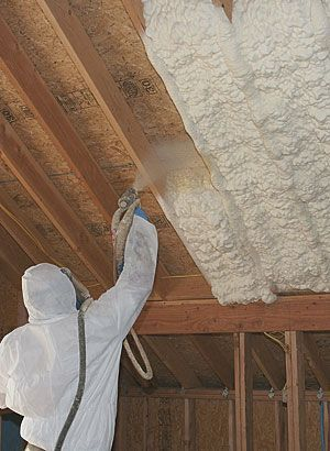 Made From Polyurethane This Product Reduces Air Leakage Better Than Any Other Type Of Insulation It Fills The Nooks Home Insulation Diy Insulation Spray Foam