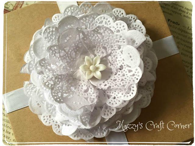 Mazzys craft corner how to make a paper doily flower my mazzys craft corner how to make a paper doily flower mightylinksfo