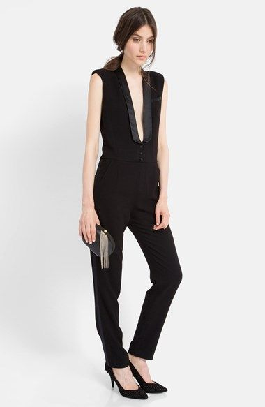 a4454997220 Free shipping and returns on maje  Elfie  Tuxedo Jumpsuit at Nordstrom.com. Formal  eveningwear influences the trendy one-piece design of this tailored ...