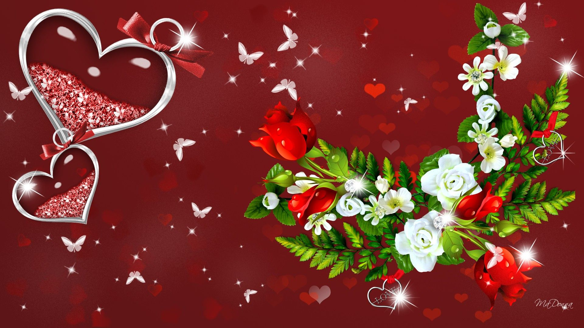 Valentine roses wallpaper Clicktop9 HD Wallpaper And
