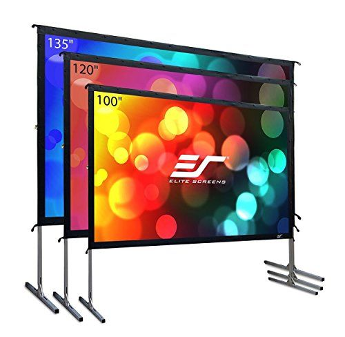 Elite Screens Yard Master 2 135 Inch 16 9 Foldable Folding Frame Outdoor Rear Proj Outdoor Projector Screens Outdoor Projection Screen Movie Projector Screen