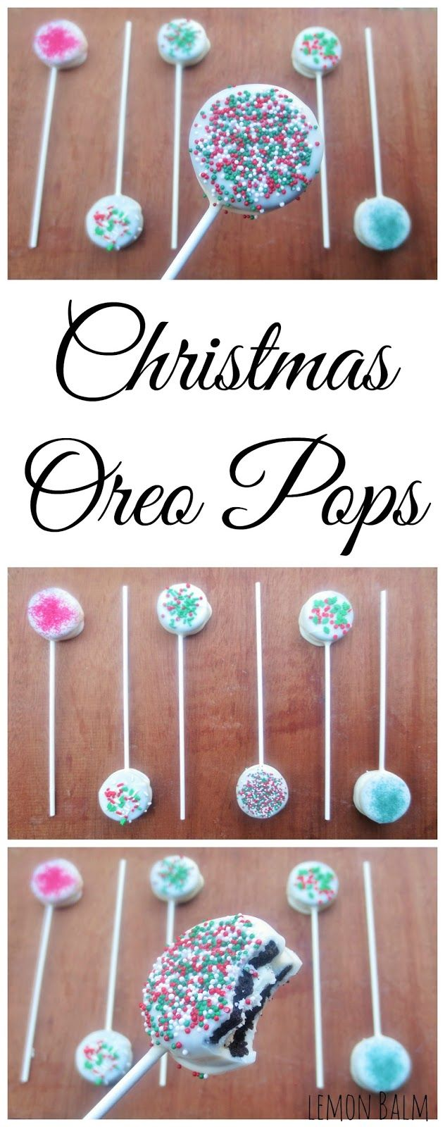 Christmas Oreo Pops http://macthelm.blogspot.com/ Easy and adorable, these Christmas Oreo Pops are a perfect treat to make with kids!