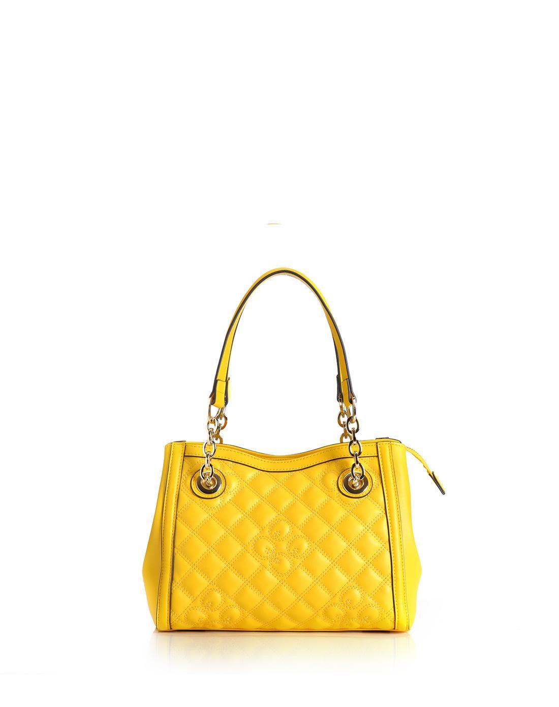 AdoreWe QIANBH Casual Yellow Check Leather Handbag - AdoreWe.com ... 5e0c93c2129d0