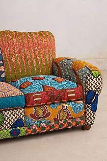 Mobilier recouvert de wax deco afrique mobilier de salon d coration int rieure africaine et - Canape style africain ...