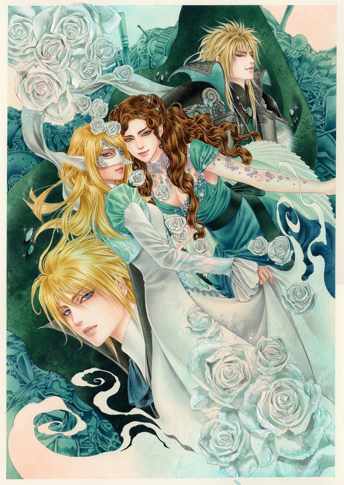 Labyrinth DAVID BOWIE IN ANIME HAS TO BE THE BEST THING EVER