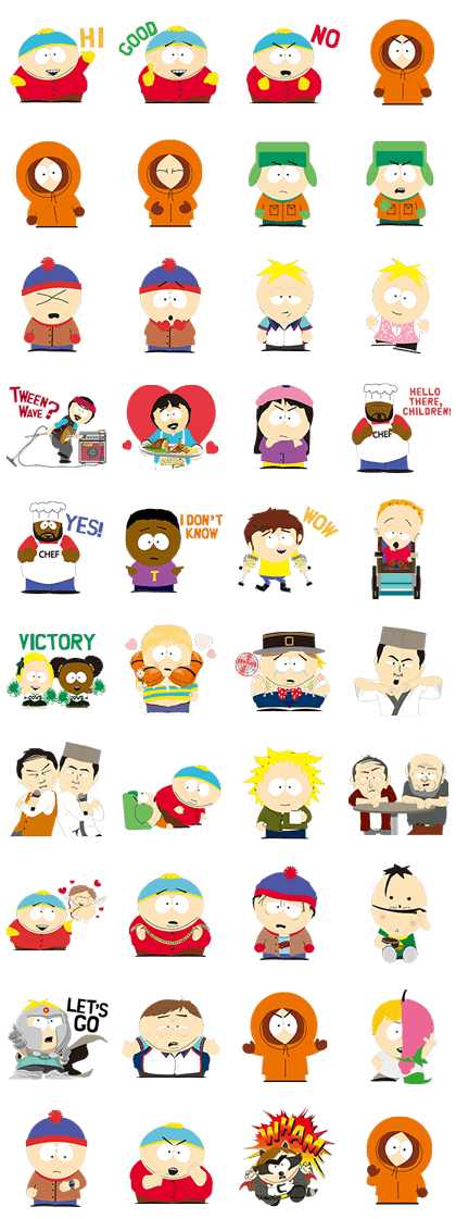 Dude Sweet South Park Stickers Are Here Cartman Butters Timmy Get All Your Favorite Characters South Park Tattoo South Park Characters Style South Park