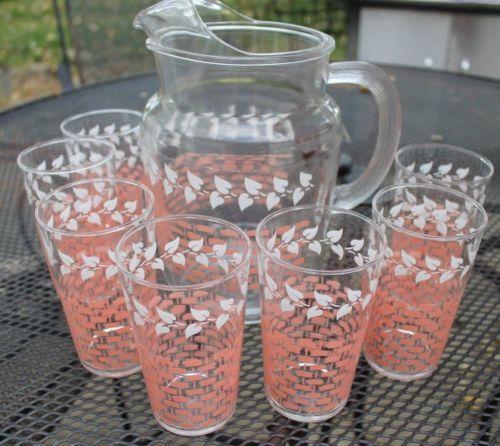 Vintage Basket Weave Tea Glass