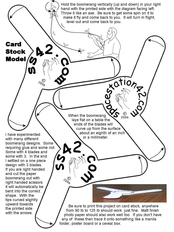Papierflieger Selbst Basteln Bumerang Falten
