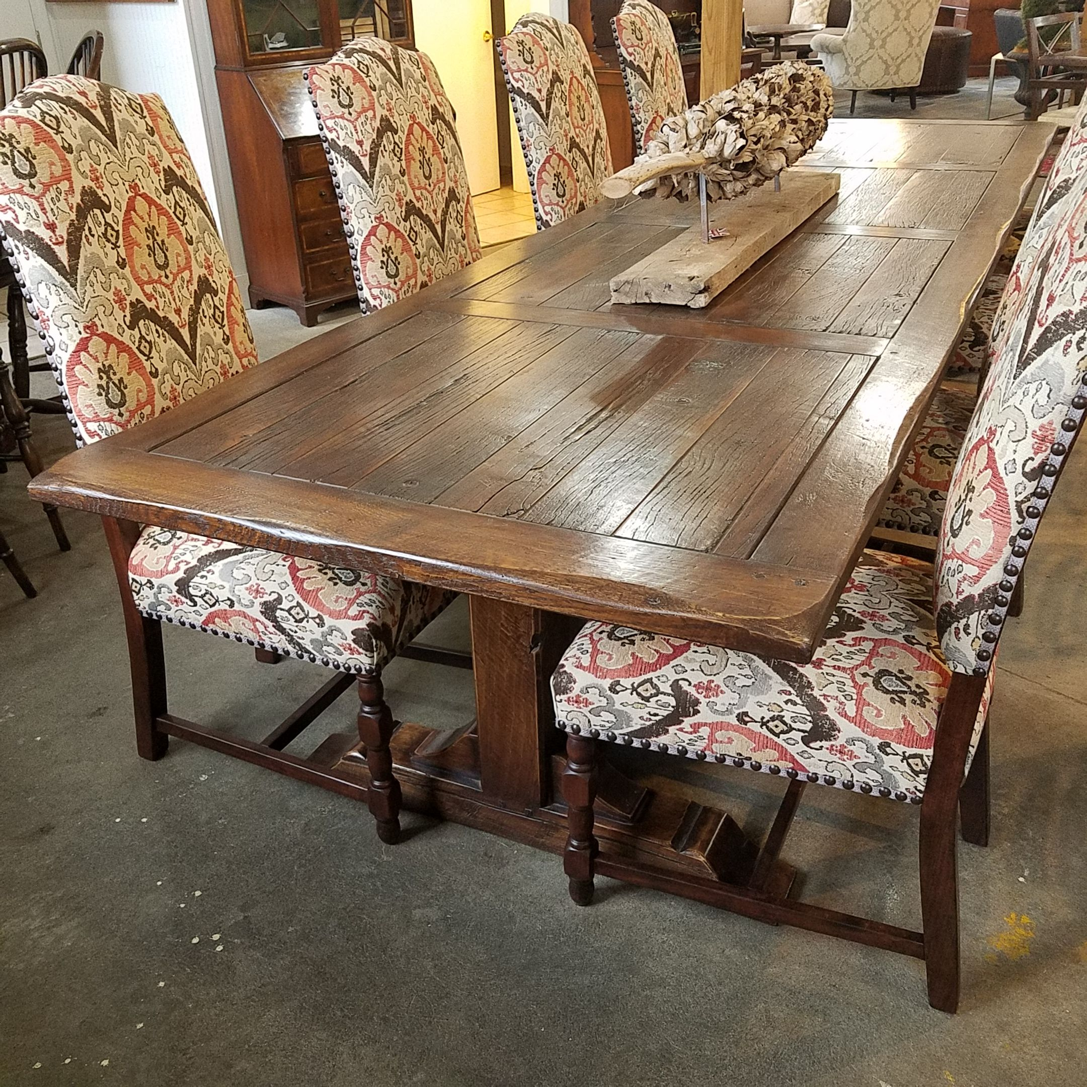 Full of character & charm our 10 panel top refectory table with