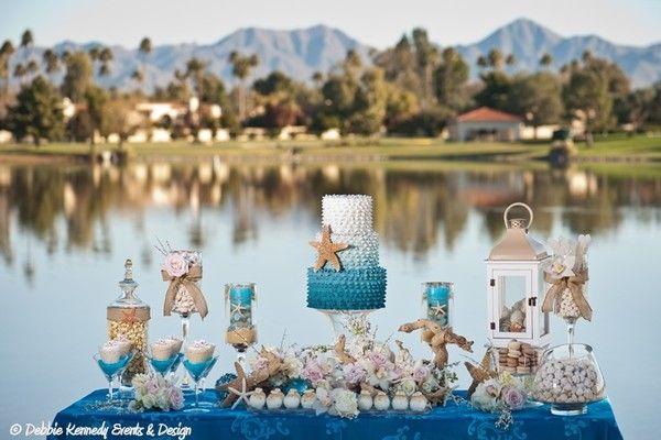 Beach Wedding Dessert Table In 2019