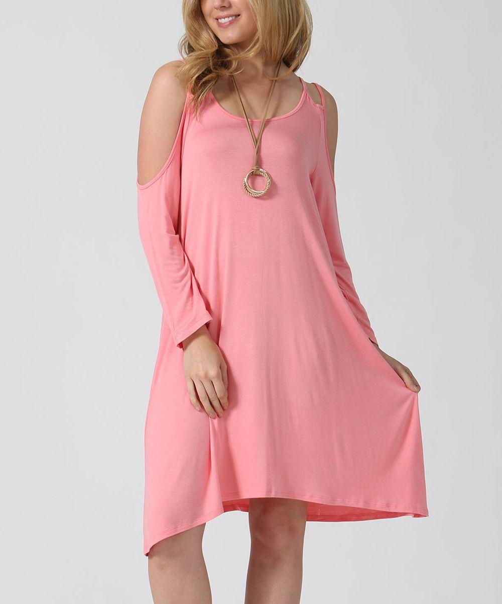 Pink cut out dress  Rose Pink Cutout Dress  Plus  Products  Pinterest  Pink Dresses