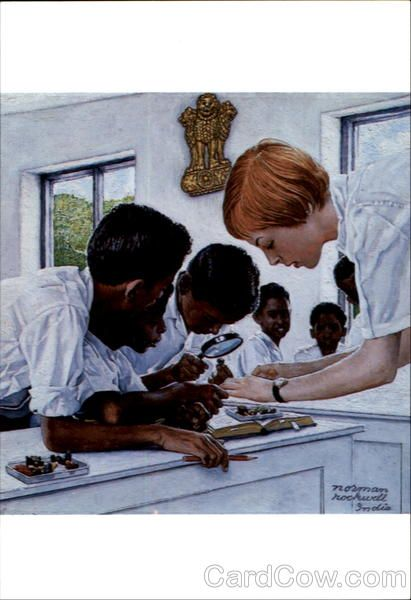 The Peace Corps In India Norman Rockwell Art