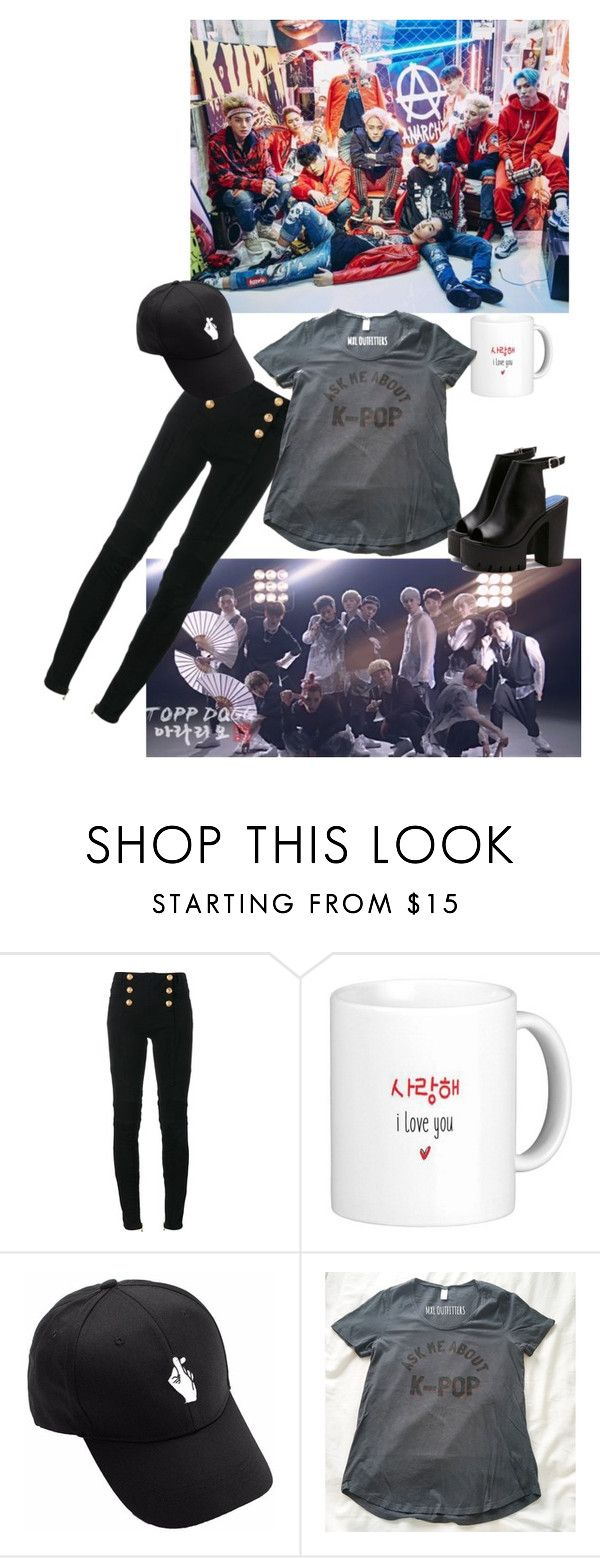 """""""Topp Dogg~"""" by that-goth-transguy ❤ liked on Polyvore featuring Balmain"""